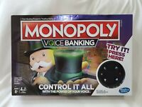 Monopoly Voice Banking Electronic Family Board Game NIB Slightly Damaged