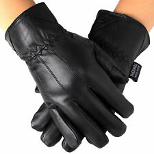 Alpine Swiss Mens Touch Screen Gloves Leather Thermal Lined Phone Texting Gloves