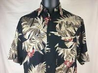 Vintage Nautica Button Up Hawaiian Camp Shirt 100% Rayon Men's M Medium
