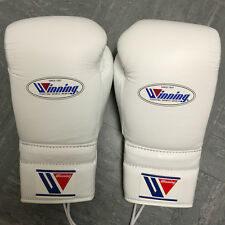 Winning Boxe - 16 oz (environ 453.58 g) - Blanc-Professionnel Sparring Gants-Grant Reyes