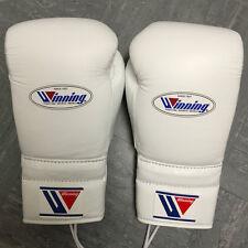 WINNING BOXING - 14oz - WHITE - Professional Sparring Gloves - Grant Reyes