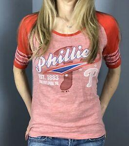 Philadelphia Phillies Women's Baseball T-Shirt (3 sizes available)