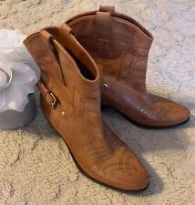 Franco Sarto Cowboy Cowgirl Cognac Western Boots Booties Size 7.5