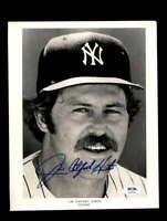 Jim Catfish Hunter PSA DNA Coa Hand Signed 8x10 Photo Yankees Autograph