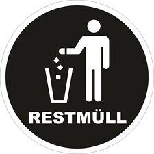 Restmüll Mülleimer Aufkleber Mülltonne Recycling Mülltrennung 200mm 10795
