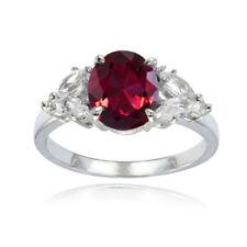 Topaz Sterling Silver Ruby Fine Rings