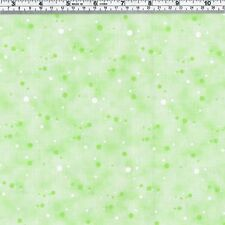 Green & White SPOTS on green Fabric ~ FQ