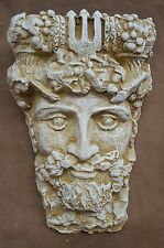 Clearance Antique finish Gothic Neptune Face Wall Plaque Home Garden Decor