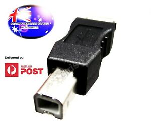 From OZ Quality 1PC USB Type A Female To USB Type B Male Printer Adapter +FP!