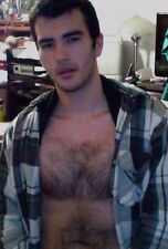 Shirtless Male Handsome Dude Hairy Chest Facial Hair Dude  PHOTO 4X6 D387