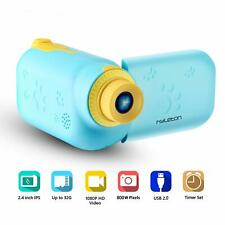 hyleton Kids Camera 1080P Kids Digital Video Action Camcorder (Colour = Blue)