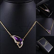 Geschenk Halskette Schmetterling, Damen, Vergoldet Swarovski® Kristalle, im Etui