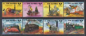 O835. Gambia - MNH - Cartoons - Disney's - Trains