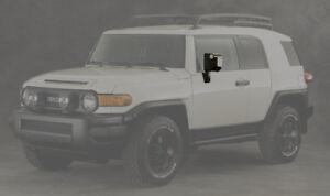 Toyota FJ Cruiser Trail Teams Black Door Mirrors - OEM NEW