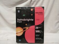 Wausau Astrobrights Re Entry Red Colored Paper 24 8 12 X 11 500 Sheets