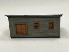 N scale Halloran scratch built line-side MOW speeder shed