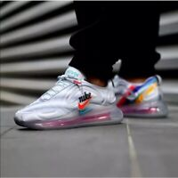NIKE AIR MAX 720 GS GEOLOGY GREY/RED/TEAL AQ3196-010 SIZE 7Y or WOMEN'S 8.5 NEW