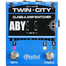 Radial Engineering Tonebone Twin City Bones Active ABY Switcher Footswitch Pedal
