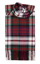 MACDONALD DRESS MODERN TARTAN SCARF 100% LAMBSWOOL  by LOCHCARRON