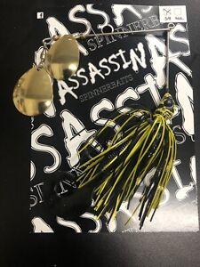AUSTRALIAN MADE Assassin Spinner baits 1 X 5/8  BASS YELLA # 8