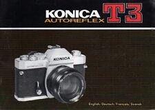 KONICA T3 AUTOREFLEX SLR 35mm CAMERA OWNERS INSTRUCTION MANUAL
