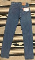 NWT Vintage 80s Levis 501 0113 Blue Denim Jeans Mens 30x36 Button Fly Preshrunk