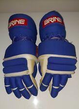 Vintage Brine L-35 Lacrosse Gloves Floating Cuff Flip Flop Model Blue