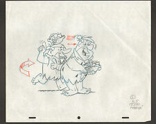 "Flintstones Animation Art - ""Rumba"" Fred + Barney Moving/Dancing Scene 5"