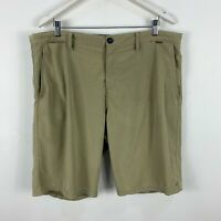 Hurley Board Shorts Mens 38 Brown Bermuda Zip Closure Pockets