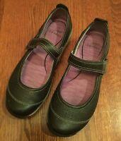 Dansko Hadley Black Leather Mary Janes Women's Size 37 6.5 7