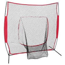 7x7Ft Bow Frame Baseball Softball Teeball Practice Batting Training Net W Bag