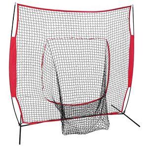 7x7Ft Bow Frame Baseball Softball Teeball Practice Batting Training Net W Bag