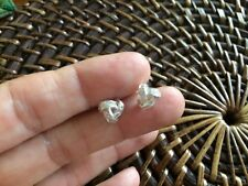 Genuine Sterling Silver 925 Cubic Zirconia Knot Stud Earrings - NEW