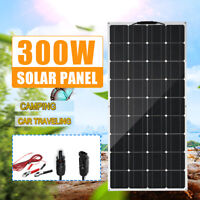 100W/300W Solar Panel Monocrystalline Battery Flexible Charger Camping