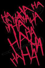 Joker Laugh RED  STICKER VINYL DECAL SUICIDE SQUAD HARLEY QUINN BATMAN