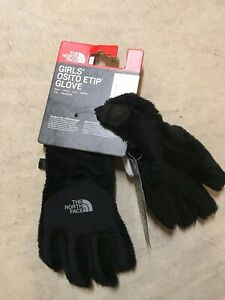 girls youth the north face osito etip gloves black  Large