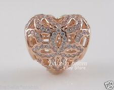 LOVE AND APPRECIATION 100% Genuine PANDORA Rose GOLD Plated HEART Charm/Bead NEW