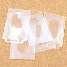 5 Pcs Porte-badge ID Carte Pochette Etui en Plastique Support Bancaire IC Nom