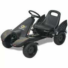 vidaXL Skelter met Pedalen Verstelbare Zitting Zwart Kart Go-Kart Speelgoed
