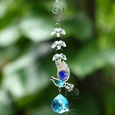 Hanging Suncatcher 30mm Crystal Blue Ball Prism Bird Pendant Wedding Car Decor