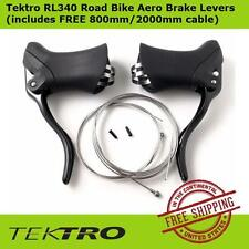 Tektro RL340 Road Bike Aero Brake Levers Right & Left w/ FREE 800mm/2000mm cable