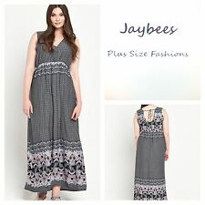 Polyester Summer/Beach Paisley Plus Size Dresses for Women