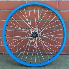 "20"" x 1.5"" / 1.75"" Bicycle Front Blue Alloy Wheel - Rim Bmx Bike -Youth Rim"