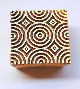Wooden Handmade Printing Stamp Block Decorative Textiles Crafts Tattoo 1 Pcs