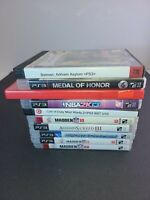 Sony Playstation 3 Video Game Bundle Of 10 Great condition Multiple Genres