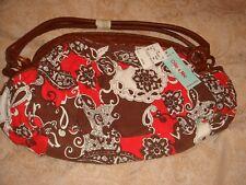 bnwt ollie and nic handbag red brown fabric £45 T K Max
