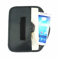 Anti-tracking GPS RFID Signal Blocker Anti-radiation Pouch for Cell Phone Black