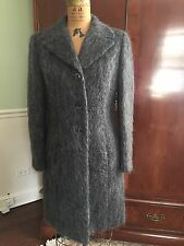 Womens BEBE Mohair Wool Coat Grey Size Small