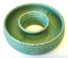1940s Lovatt Lovatts Vintage Posy Vase Vintage Planter Green Basket Weave