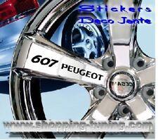 8 STICKER AUTOCOLLANT LOGO JANTE PEUGEOT 607